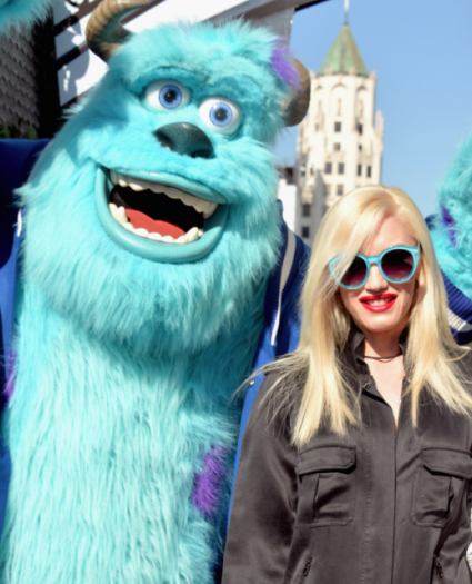 gwen stefani on the red carpet at the Monsters University Movie Premiere Photos! Billy Crystal! Gwen Stefani! Gavin Rossdale! Sean Hayes! Beth Behrs! John Ratzenburger! Mike! Sully! And More!