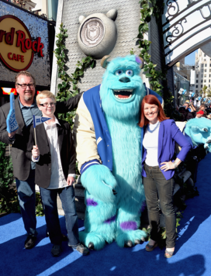 kate flannery on the red carpet at the Monsters University Movie Premiere Photos! Billy Crystal! Gwen Stefani! Gavin Rossdale! Sean Hayes! Beth Behrs! John Ratzenburger! Mike! Sully! And More!