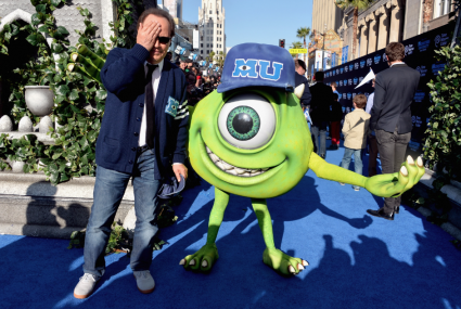 billy crystal on the red carpet at the Monsters University Movie Premiere Photos! Billy Crystal! Gwen Stefani! Gavin Rossdale! Sean Hayes! Beth Behrs! John Ratzenburger! Mike! Sully! And More!