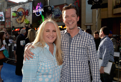 sean hayes on the red carpet at the Monsters University Movie Premiere Photos! Billy Crystal! Gwen Stefani! Gavin Rossdale! Sean Hayes! Beth Behrs! John Ratzenburger! Mike! Sully! And More!