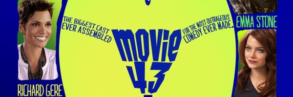 Movie 43 movie poster title logo rare richard gere hugh jackman rare