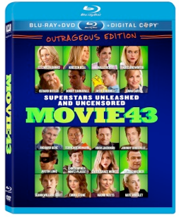 Movie 43 blu ray combo pack cover rare promo berry-movie-43 movie 43 press promo still batman robin rare Movie 43 movie poster title logo rare richard gere hugh jackman rare
