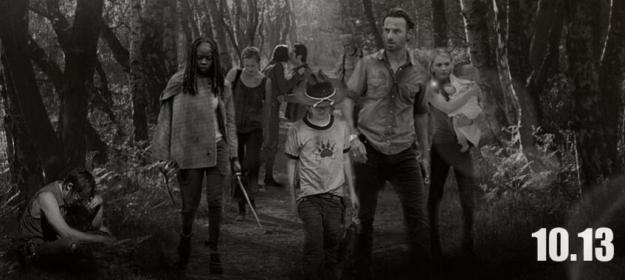 The Walking Dead season promo poster amc logo norman reedus andrew lincoln