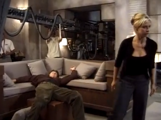 sarah michelle gellar david boreanaz behind the scenes on Buffy The Vampire slayer rare