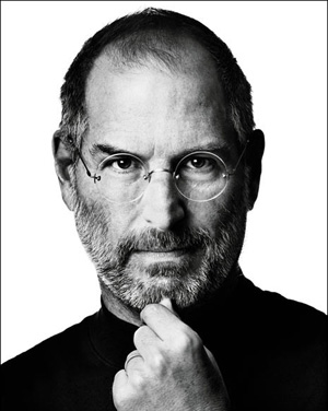Steve Jobs rare head shot promo photo apple ceo