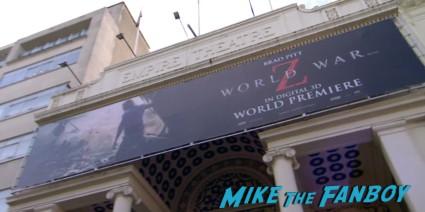 World War z movie premiere london brad pitt angelina jolie signing autographs red carpet