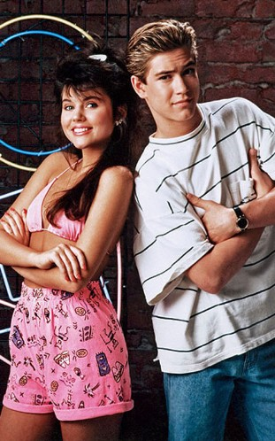 Mark-Paul Gosselaar and Tiffani Thiessen