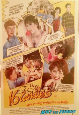anthony michael hall signed autograph the breakfast club mini poster rare hot