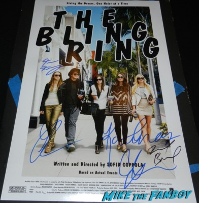 The bling Ring Movie poster one sheet signed autograph emma watson Israel Broussard signing autographs at the bling ring movie premiere emma watson signing autographs 038 bling ring movie premiere emma watson signing autographs 040