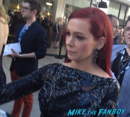 Carrie Preston signing autographs true blood season 6 premiere red carpet anna paquin alexander skarsgard hot rare