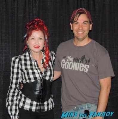 cyndi lauper and scott moore meet and greet signing autographs for fans rare