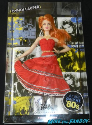 cyndi lauper signed autograph ladies of the 80's barbie doll rare cyndi lauper greek theater live in concert 2013 she's so unusual 242