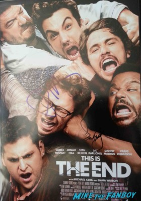 this is the end cast signed autograph poster emma watson seth rogen rare hot promo