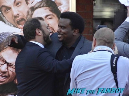 craig robinson arriving at the this is the end movie premiere