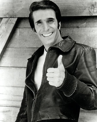 Henry Winkler the Fonz happy days promo photo