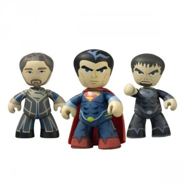 Man of Steel Mez-Itz Three Pack, featuring General Zod, Zor-El and Superman himself, Kal-El mezco toys 2013 exclusive