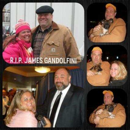 James Gandolfini signing autographs for fans remembering the icon fan photo tony soprano signed