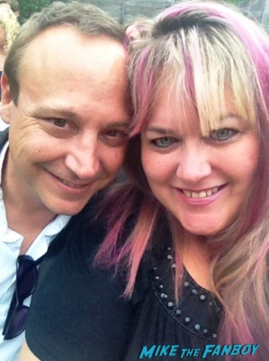 keith coogan and pinky at the hollywood show in april