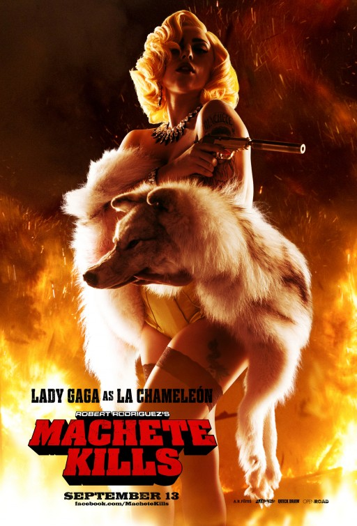 Lady Gaga machete_kills individual one hseet movie poster rare hot sexy one sheet photo