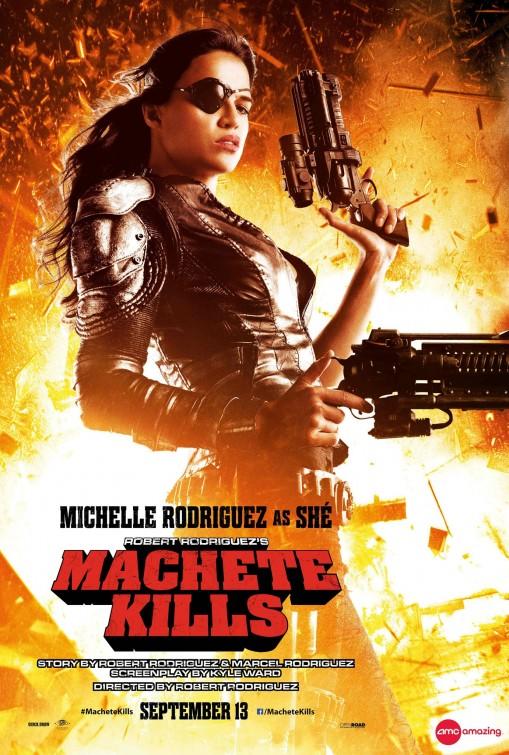 michele rodriguez machete_kills individual one hseet movie poster rare hot sexy one sheet photo