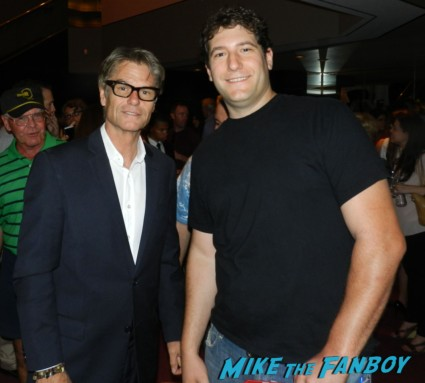 Harry Hamlin signing autographs for fans mad men q and a emmy party 014