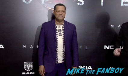 Lawrence Fishburne on the red carpet at the man of steel new york movie premiere red carpet henry cavill hot (19)