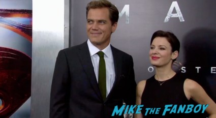 Michael Shannon on the red carpet at the man of steel new york movie premiere red carpet henry cavill hot (19)