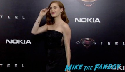 Amy Adams on the red carpet at the man of steel new york movie premiere red carpet henry cavill hot (19)