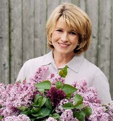 martha stewart holding a bouquet of flowers rare promo