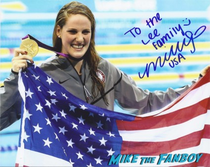 Missy Franklin signing autographs for fans hot sexy swimmer rare Natalie Coughlin signing autographs for fans rare signed autograph sports illustrated magazine hot sexy swimmer