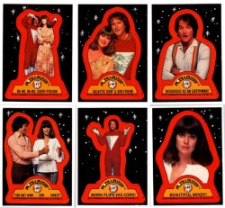 mork-and-mindy stickers mork_and_mindy rare cast photo promo paw dawber robin williams