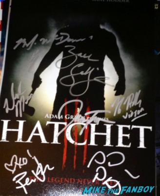 Hatchet signed autograph movie poster rare promo Holliston signed autograph poster rare Caroline Williams signing autographs danielle harris signed autograph halloween 4 poster Danielle Harris