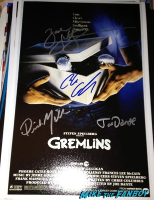 zach galligan signed autograph gremlins mini poster rare  signing autographs Hatchet 3 Movie Premiere Report! With Zach Galligan! Kane Hodder! Derek Mears! Sid Haig! BJ McDonnell! Danielle Harris! Autographs! Photos! And More!