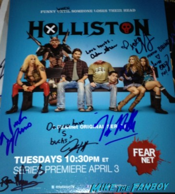 Holliston signed autograph poster rare Caroline Williams signing autographs danielle harris signed autograph halloween 4 poster Danielle Harris