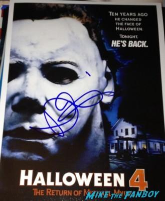 danielle harris signed autograph halloween 4 poster Danielle Harris