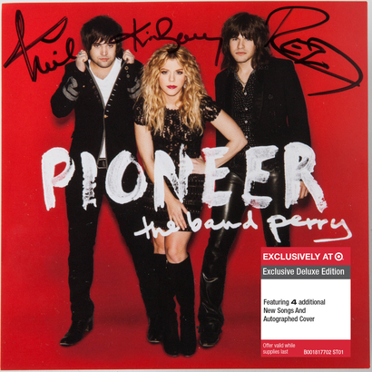 Pioneer the band perry signed autograph target exclusive cd cover rare
