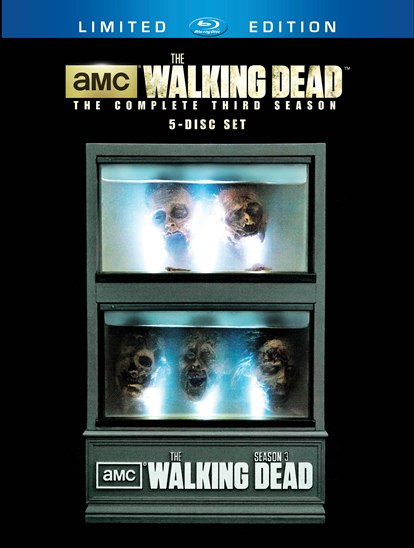 The Walking Dead complete third season mcfarlane zombie head tank set rare cover art key