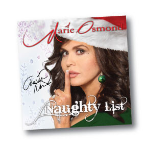 Marie Osmond The Naughty List cd cover rare promo signed autograph rare