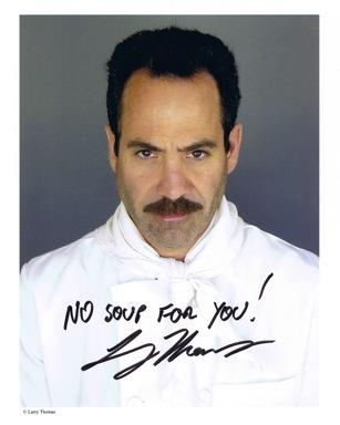 Larry David signed autograph headshot rare promo LArry David Signed autograph ladle seinfeld autograph