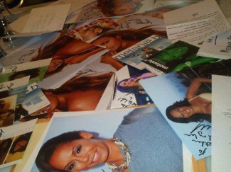 Mel B fanmail rare signing autographs spice girls promo scary spice