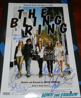 sofia coppola signed autograph the bling ring mini movie poster rare sofia coppola signing autographs for fans the bling ring 015