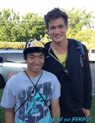 Nathan Adrian signing autographs for fans rare signing hot sexy swimmer rare promo