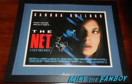 sandra bullock signed autograph signature the net mini poster uk quad movie poster promo mini poster hot