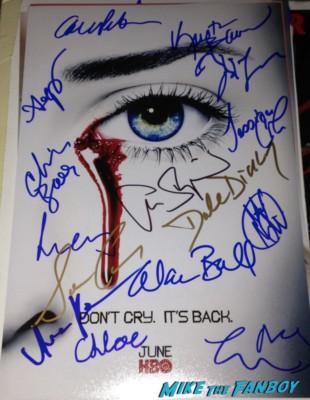 true blood cast signed autograph promo poster rare anna paquin alexander skarsgard