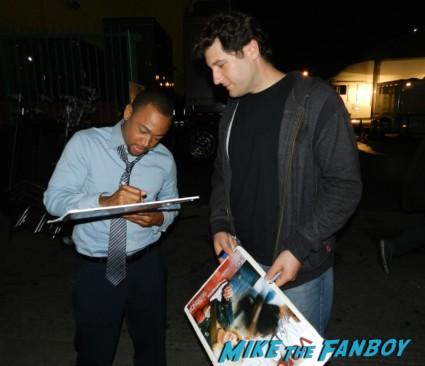 Percy Daggs III fan photo signing autographs for fans veronica mars cast on location kristen bell tina majorino amanda 002