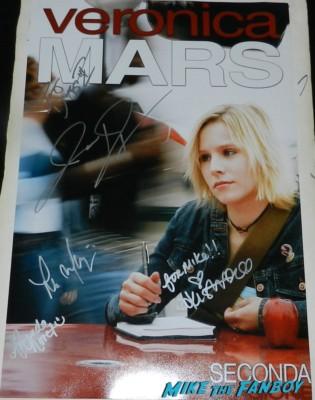 veronica mars cast signed autograph season 1 poster kristen bell tina majorino jason dohring