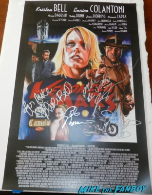 veronica mars signed autograph movie poster rare season 1 art poster kristen bell rare jason dohring