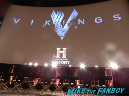 Vikings Cast Q & A! With Travis Fimmel! Katheryn Winnick! Clive Standen! Jessalyn Gilsig! Gustaf Skarsgard! George Blagden! Michael Hirst! Autographs! Photos!  vikings cast q and a television academy 001