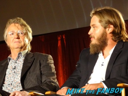 travis fimmel michael hirst at the vikings cast q and a television academy 107