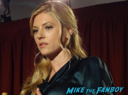 Katheryn Winnick at the vikings cast q and a television academy 107